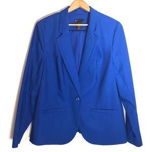 Lane Bryant blue one button blazer